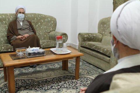 دیدار آیتالله اعرافی با رئیس مؤسسه امام خمینی(ره)