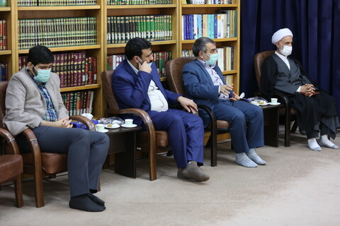 تصاویر/دیدار رئیس و معاونین دانشگاه قم با آیت الله اعرافی