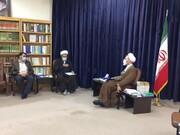 دیدار مدیر عامل مؤسسه انتشارات حوزههای علمیه با آیت الله اعرافی