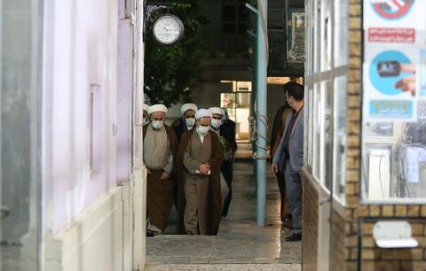 تصاویر/ بازدید آیت الله اعرافی از مدرسه علمیه حقانی قم