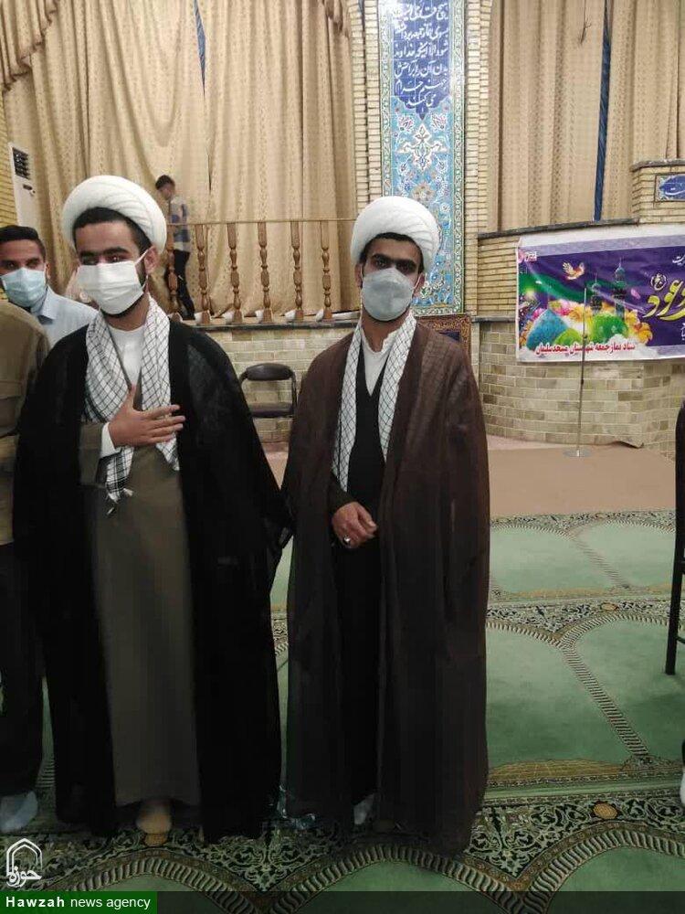عمامه گذاری جمعی از طلاب مدرسه علمیه المهدی(عج) مسجدسلیمان + عکس