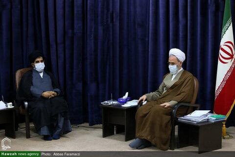 بالصور/ عدد من مندوبي مجلس الشورى الإسلامي يلتقون بآية الله الأعرافي بقم المقدسة
