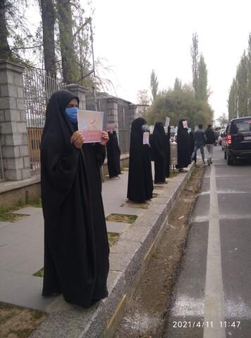 فیشن شو کے خلاف کشمیری خواتین کا احتجاج