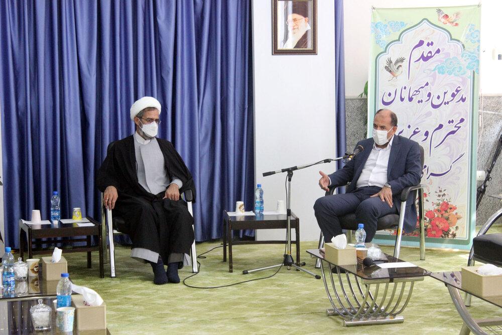 تصاویر/ دیدار رئیس سازمان اوقاف با نماینده ولی فقیه در خراسان شمالی