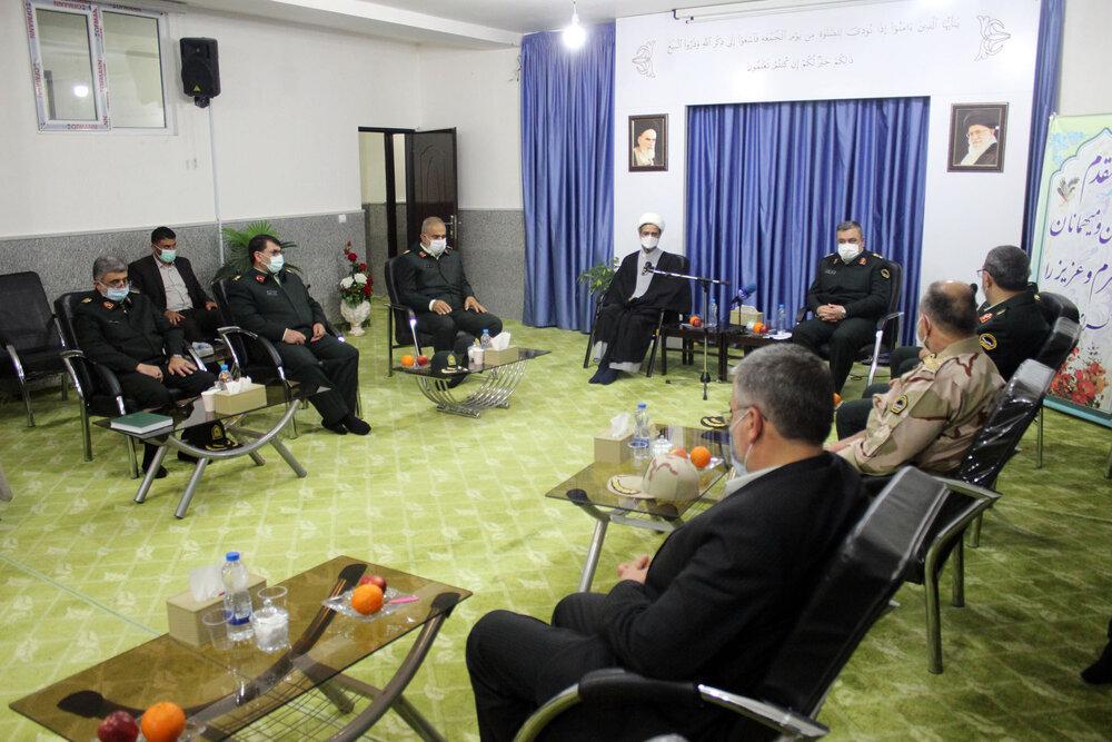تصاویر/ دیدار فرمانده نیروی انتظامی با نماینده ولی فقیه در خراسان شمالی