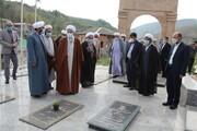 حضور نماینده ولی فقیه در مازندران در روستای کیاسر ساری + عکس