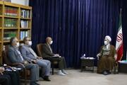 تصاویر/ دیدار اعضای شورای شهر قم با آیت الله اعرافی