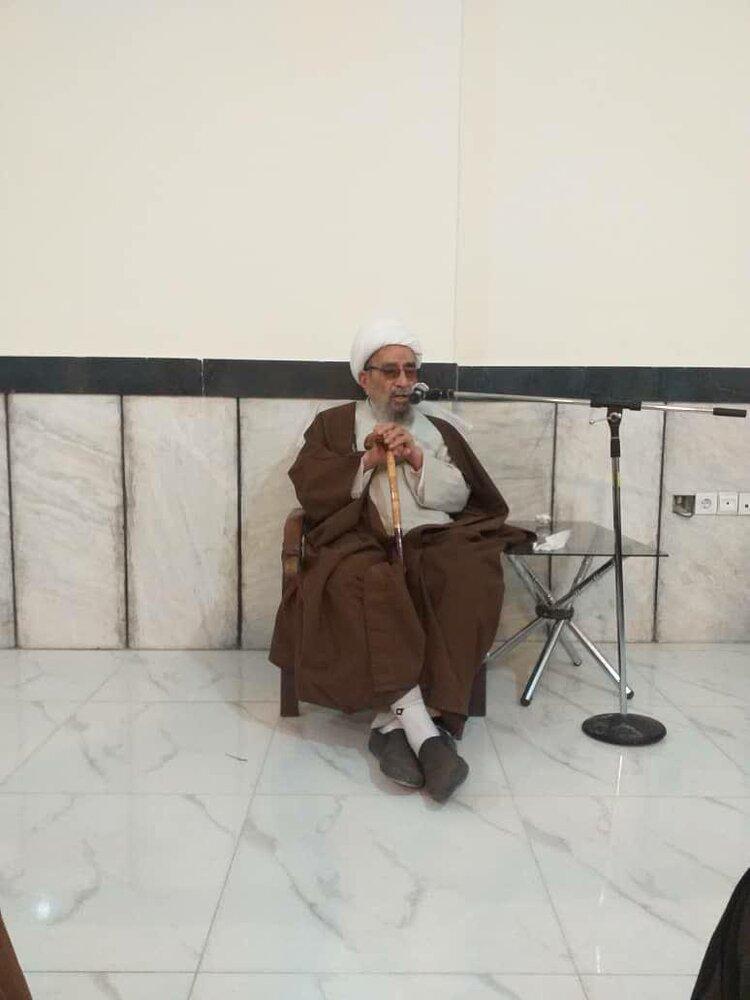 تصاویری از حضور اساتید مدرسه علمیه مهدوی و ایلچی تهران در مشهد مقدس