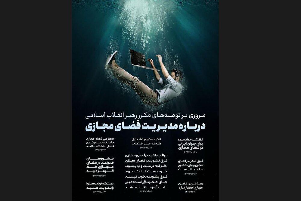عکس نوشت | مروری بر توصیههای رهبر انقلاب درباره مدیریت فضای مجازی
