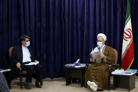 تصاویر/ دیدار رئیس سازمان زندانها با آیت الله اعرافی