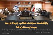 عکس نوشت| بازگشت مجدد طلاب جهادی به بیمارستان ها