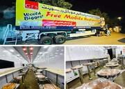 کراچی؛ جے ڈی سی فاﺅنڈیشن کے تحت 58 فٹ لمبے فری موبائل ریسٹورنٹ کا افتتاح