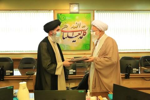 مراسم تکریم و معارفه رئیس امور روحانیون وزارت دفاع
