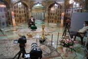 تصاویر/ ضبط برنامه مناسبتی ماه مبارک رمضان در حرم مطهر حضرت معصومه (س)