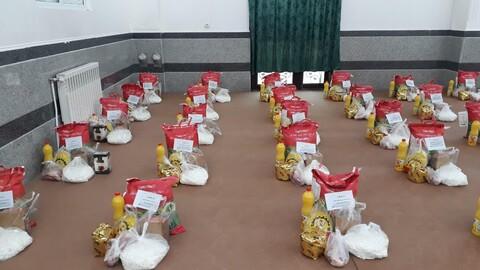 توزیع ۵۰ بسته معیشتی توسط مرکز نیکوکاری حوزه علمیه(خواهران) بناب
