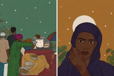 هنرمند مسلمان سنتهای ماه رمضان در سراسر جهان را به تصویر درآورد
