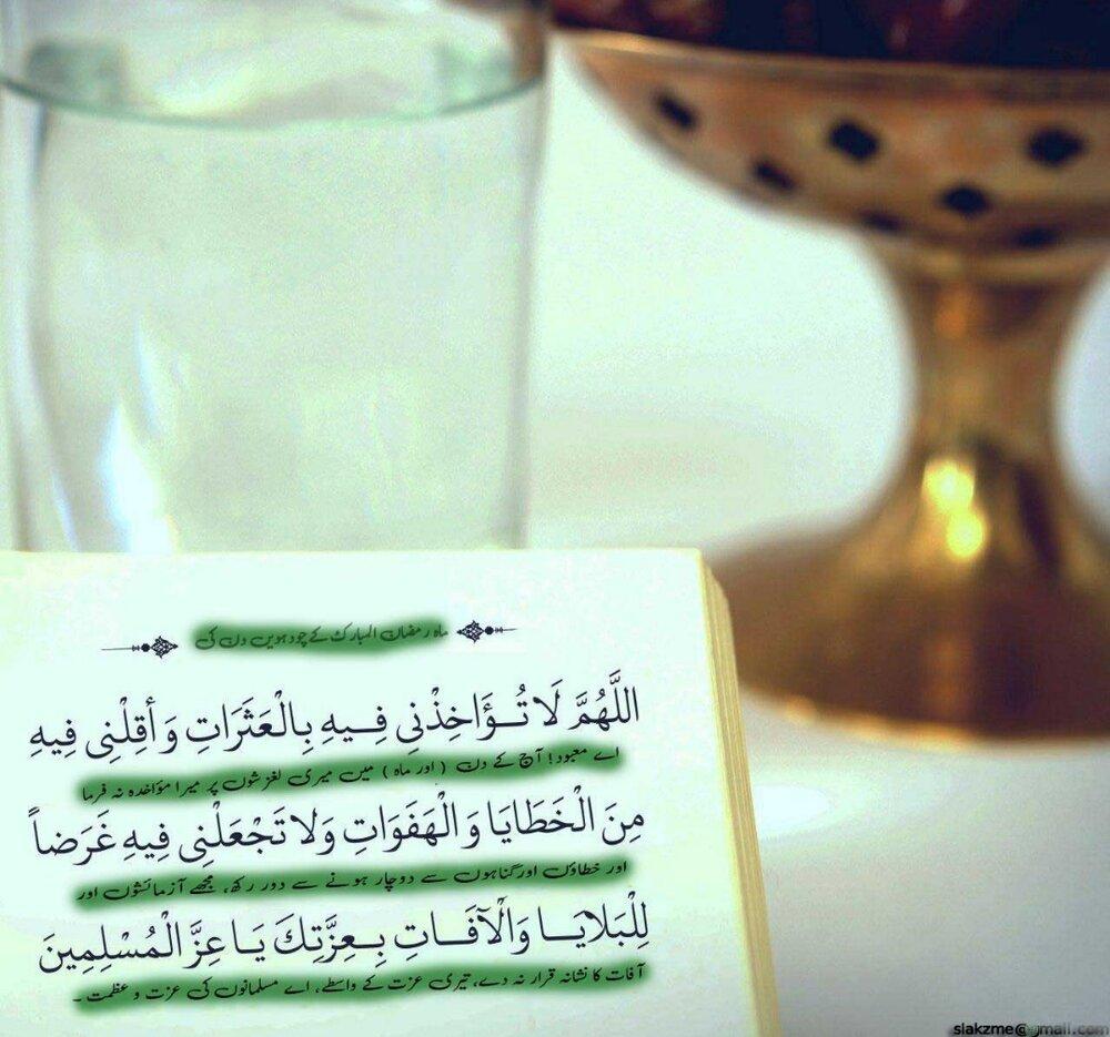 ماہ رمضان المبارک کے چودھویں دن کی دعا/دعائیہ فقرات کی مختصر تشریح