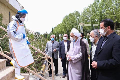 تصاویر / تقدیر امام جمعه قزوین از کارکنان آرامستانها