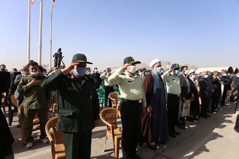 تصاویر/مراسم ادای احترام به پیکر شهید سردار حجازی در دانشکده پرواز  سپاه اصفهان