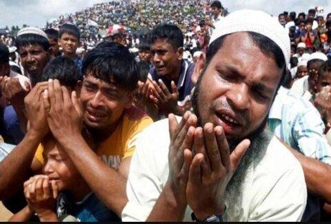 ابراز همبستگی گروهی از مسیحیان با مسلمانان میانمار