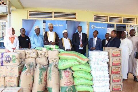 کالاهای هدیه به مسجد مرکزی اوگاندا در ماه رمضان