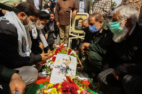 مراسم بزرگداشت شهید سردار حجازی در گلستان شهدای اصفهان