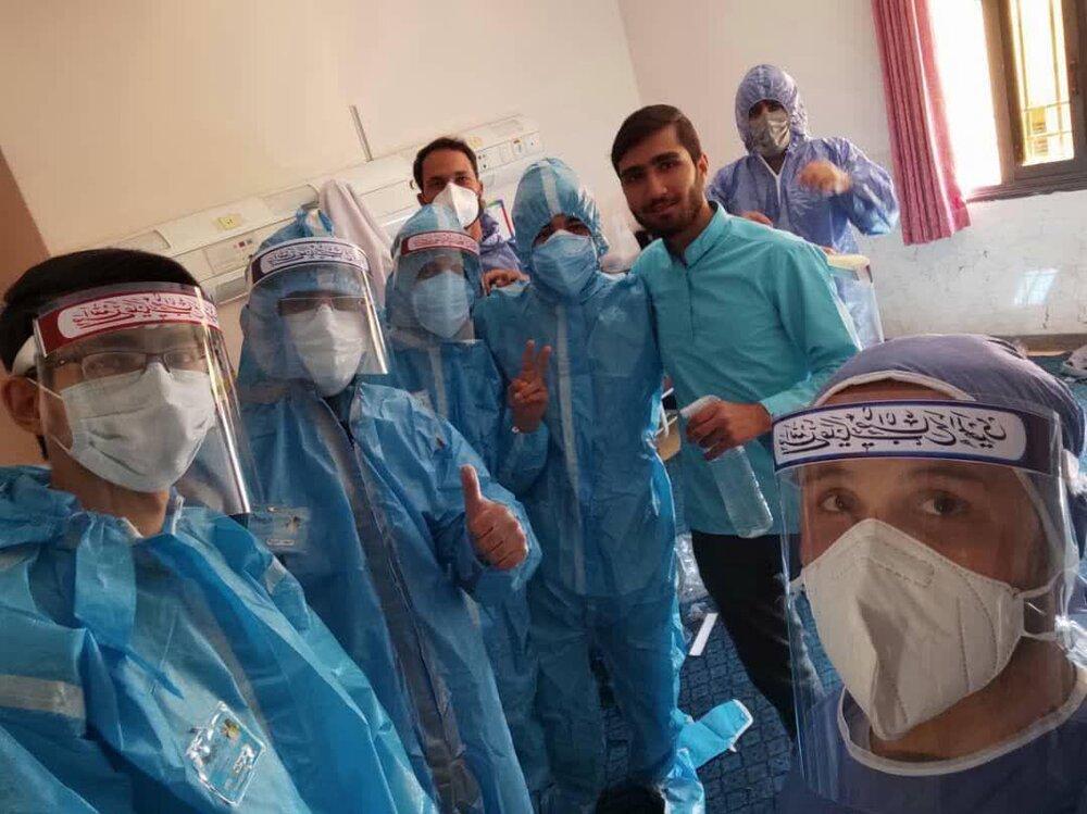 طلاب جهادی همدانی با تمام توان به یاری کادر درمان شتافتند
