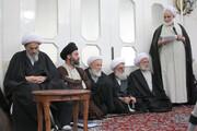 تصاویر آرشیوی دیدار جمعی از اساتید حوزه با مرحوم آیت الله العظمی فاضل لنکرانی در اردیبهشت ماه ۱۳۸۵