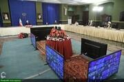 بالصور/ اجتماع أعضاء المقر الوطني لمكافحة كورونا مع الرئيس الإيراني