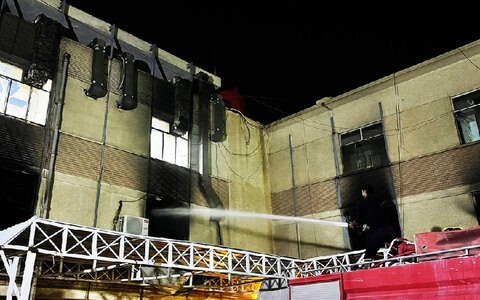 آتش سوزی در بیمارستان ابن خطیب بغداد