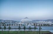 تئاتر عظیم در چین با الهام از مسجد جامع عمان ساخته شده + تصاویر