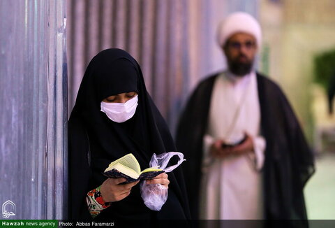 بالصور/ أجواء حرم فاطمة المعصومة عليها السلام في ذكرى ولادة الإمام الحسن عليه السلام
