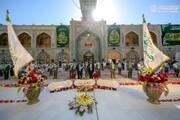 بالصور/ منتسبو العتبة العلوية المقدسة يحيون المولد المبارك للإمام الحسن المجتبى ( عليه السلام)