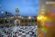 بالصور/ زائرو المرقد العلوي يحيون ميلاد الإمام الحسن المجتبى(عليه السلام) بتبادل التهاني وسط أجواء رمضانية مباركة