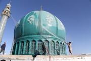 تصاویر / شستوشوی گنبد مسجد مقدس جمکران به مناسبت ۱۷ رمضان