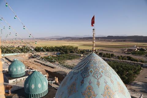 تصاویر / شست و شوی گنبدهای مسجد مقدس جمکران به مناسبت ۱۷ رمضان