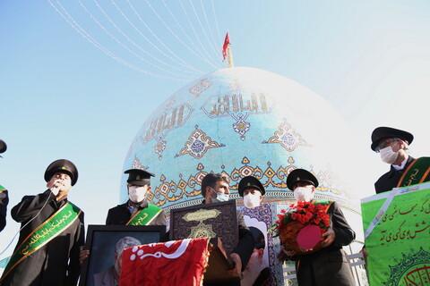 تصاویر / تعویض پرچم درسالروز تاسیس مسجد جمکران