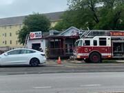 آتش سوزی در یک رستوان حلال در آستین، تگزاس