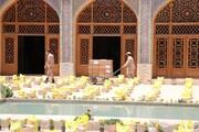 تصاویر| رزمایش کمک مومنانه در مسجد نصیرالملک شیراز