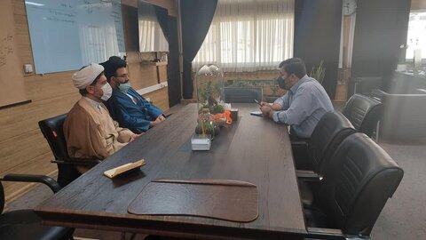سجاد بنابی، معاون وزیر ارتباطات در دیدار با حجت الاسلام میر محمدیان