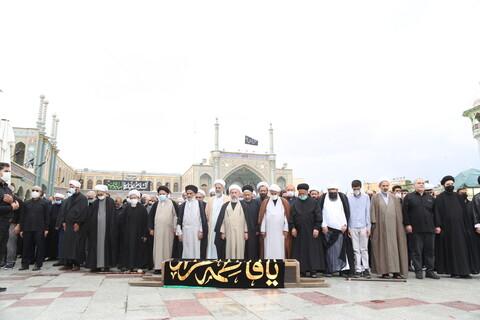 تصاویر / مراسم تشییع پیکر مرحوم آیت الله میرزا علی کاتبی مرندی