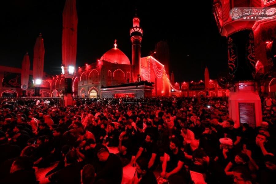تصاویر/ عزاداری شب ضربت خوردن حضرت امیرالمومنین (ع) در نجف اشرف