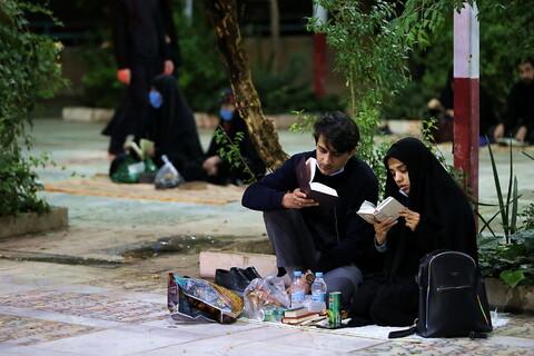 احیای شب بیست و یکم ماه مبارک رمضان در گلزار شهدای قم