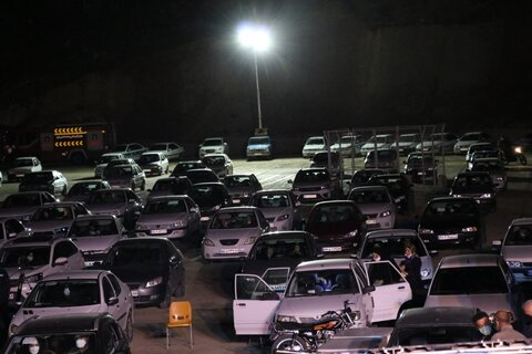 تصاویر| برگزاری مراسم خودرویی شب قدر در پارک کوهستانی دراک