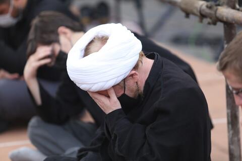 تصاویر / مراسم عزاداری شهادت حضرت علی (ع) توسط آیت الله العظمی وحید خراسانی