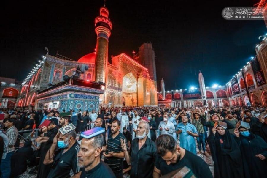 تصاویر/ مراسم احیای شب بیست و یکم  ماه رمضان در حرم حضرت امیرالمومنین (علیه السلام)