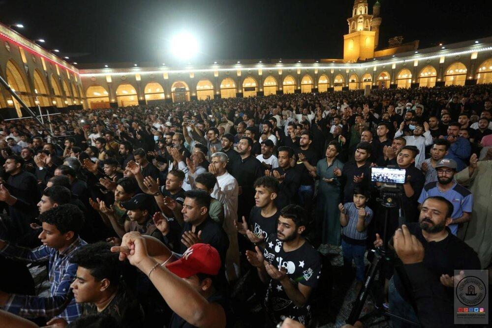 تصاویر/ احیای شب قدر و عزاداری شهادت مولای متقیان امیرمومنان (ع) در مسجد کوفه
