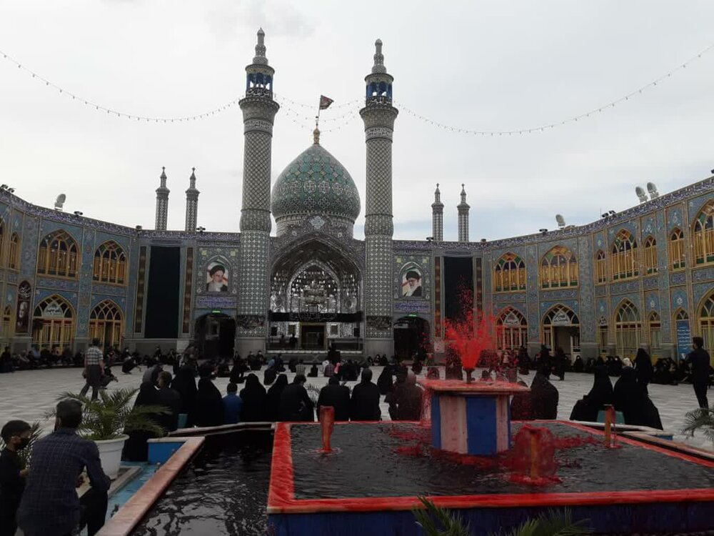 سوگواره سنتی کاشانی ها در حرم هلال بن علی(ع) برگزار شد