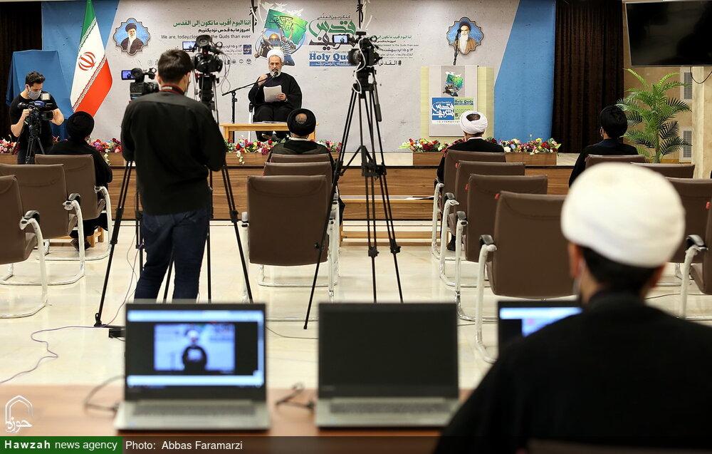 تصاویر/  اولین روز کنگره بین المللی قدس شریف به صورت مجازی