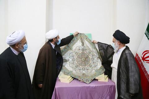 تصاویر / رونمایی از کتاب فلسطین فی وجدان علماء الاسلام توسط آیت الله حسینی بوشهری